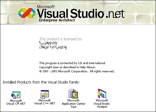 Visual Studio .NET (aka 2002) Splash Screen
