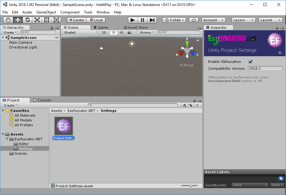 Seamless Eazfuscator.NET integration with Unity