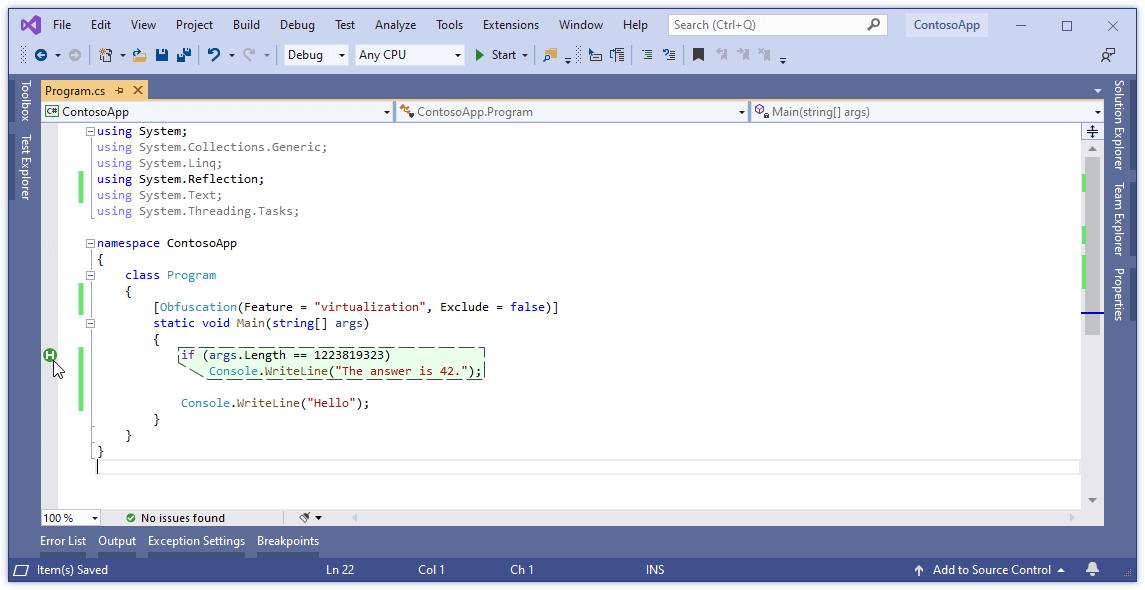 Visualization of homomorphically encrypted blocks of code