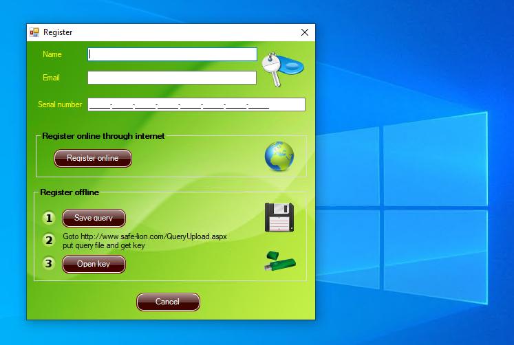 NetWinProtector Register